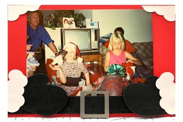 Santa's Belly Card Photo Holder