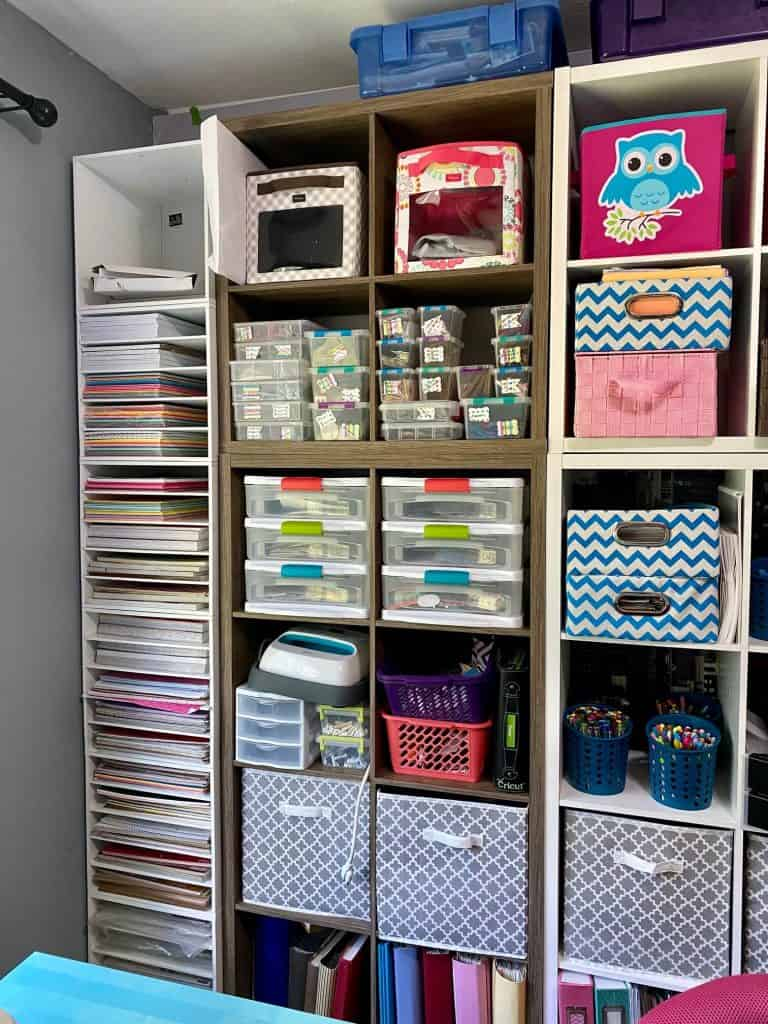 Cubbie Storage for Small Craft Room
