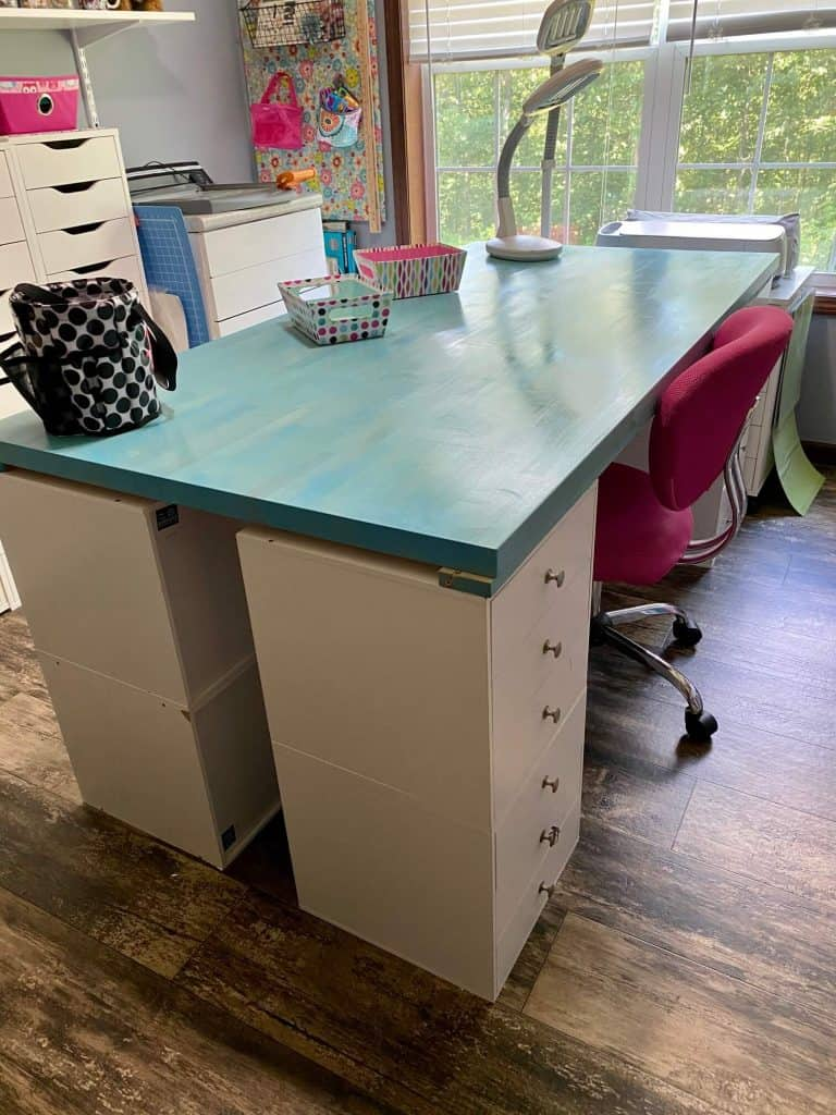 Cubed Craft Room Table