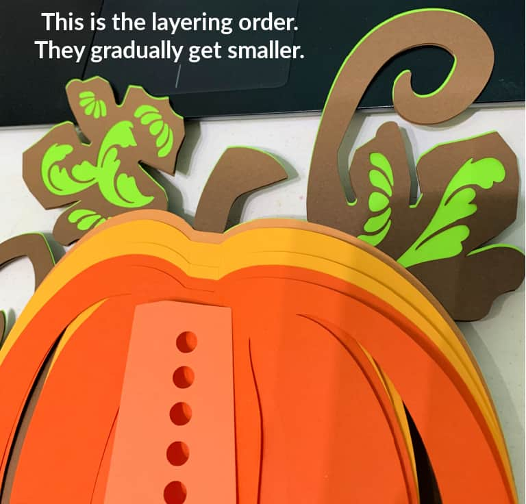 Order of Layers for the Pumpkin