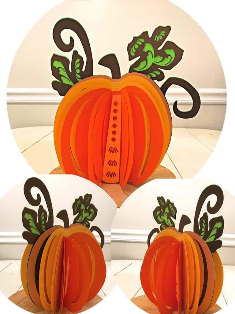 3D Paper Pumpkin Centerpiece