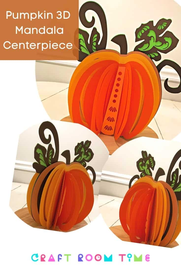 Pumpkin 3D Mandala Centerpiece SVG
