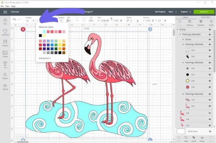 Choosing the color of the flamingos