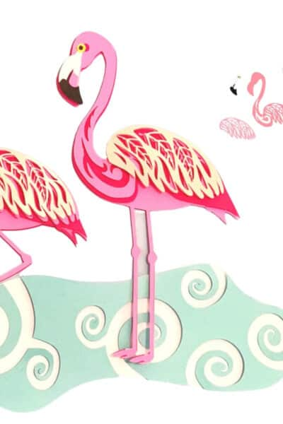 Free Layered Flamingo SVG