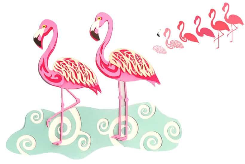 Free Layered Flamingo SVG