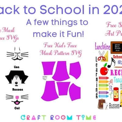 DIY Back to School Masks for Kids Free SVGs