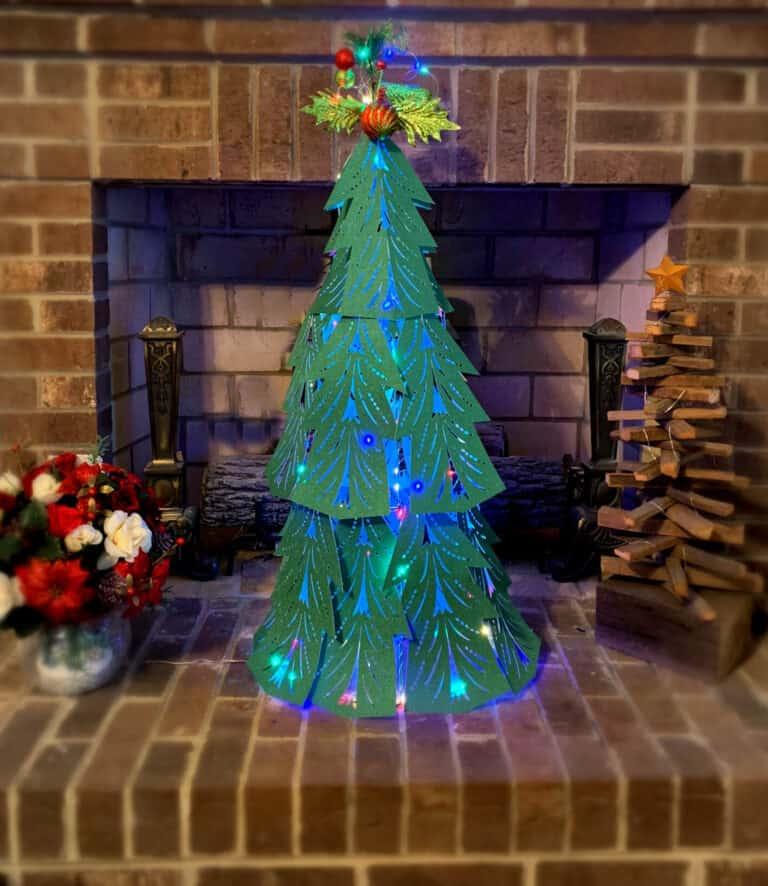 Elegant 3D Paper Christmas Tree