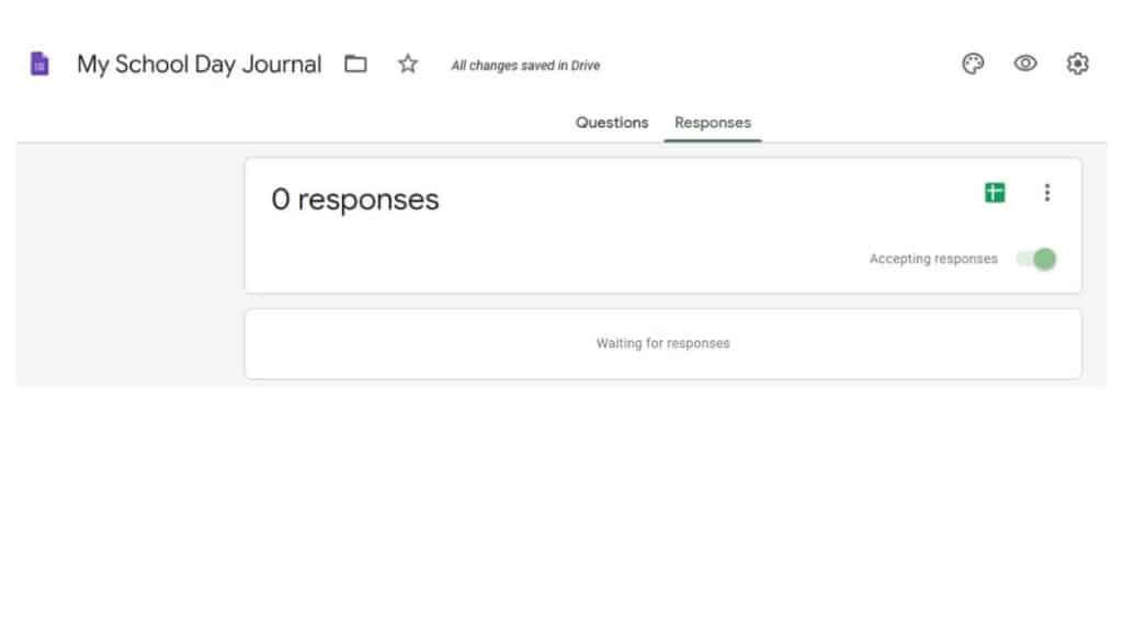 School day journal responses