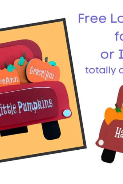 Little Pumpkins Truck Free SVG