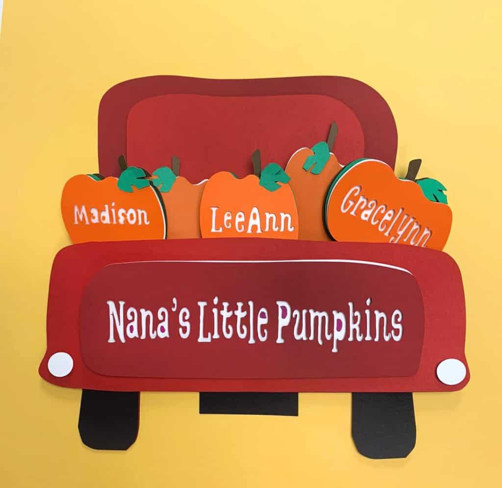 Little Pumpkins Fall Truck Free SVG