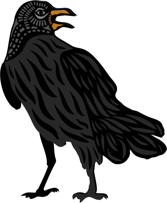 3D Layered Crow Free SVG