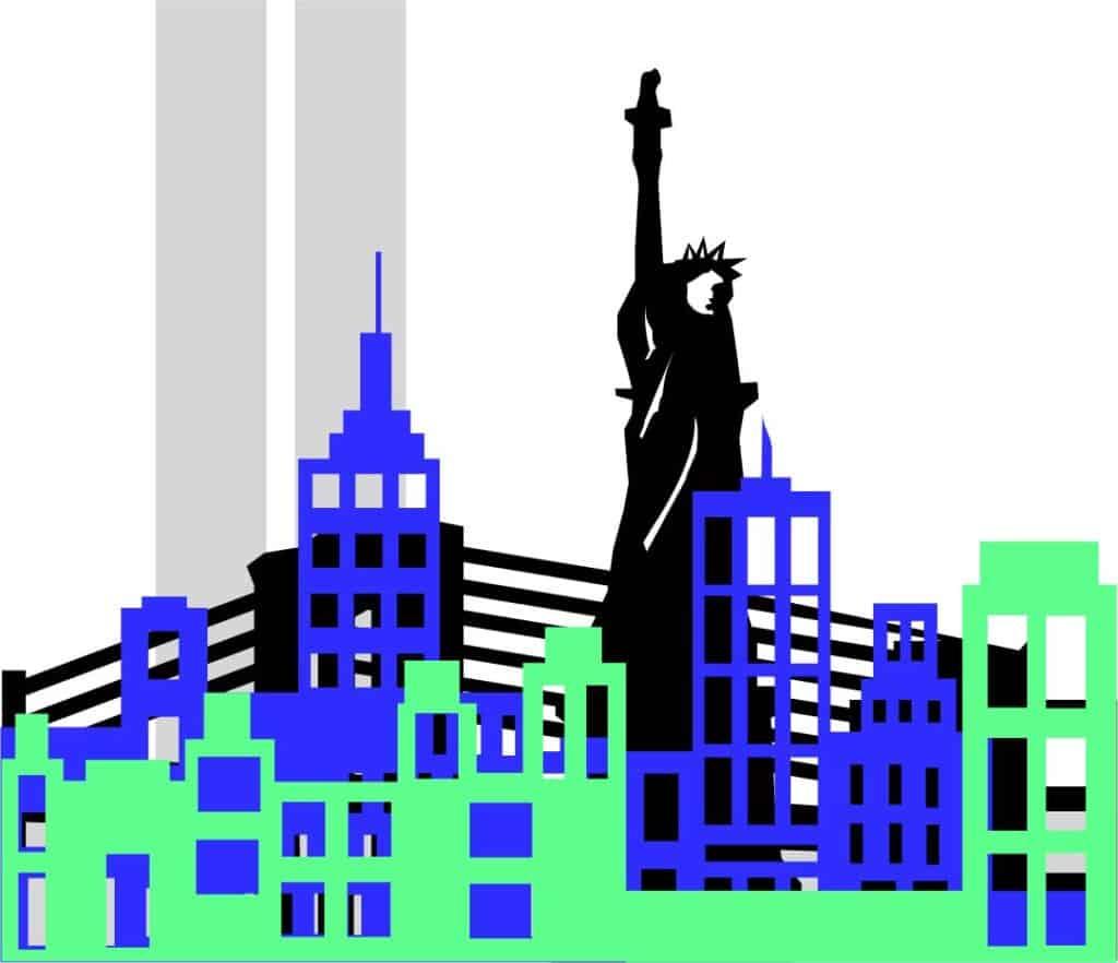 NY Shadow Box with Towers