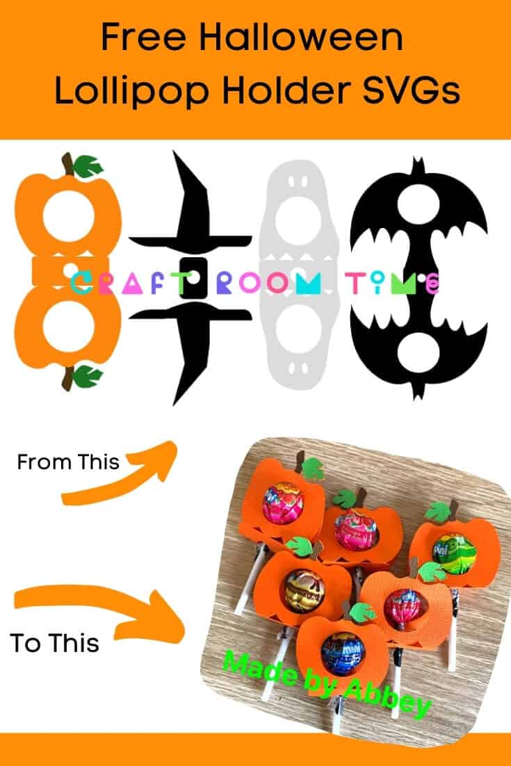 Free Halloween SVGs Lollipop Holders