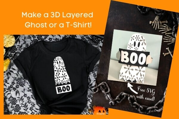 3D Layered Ghost with Free SVG