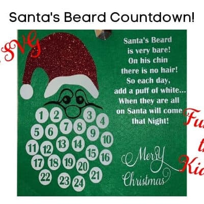 Santa's Beard Christmas Countdown Free SVG