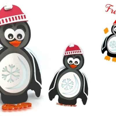 3d Layered Penguin Free SVG
