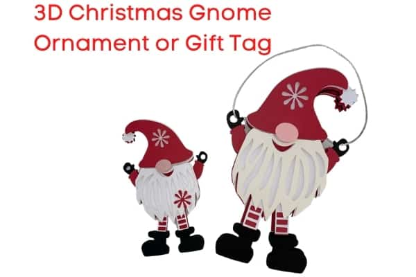 3D Christmas Gnome Ornament