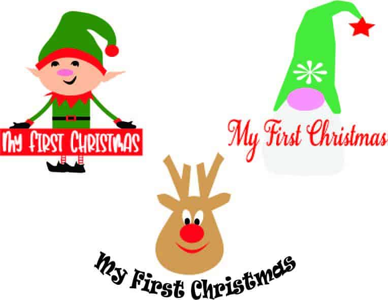 My First Christmas SVGs