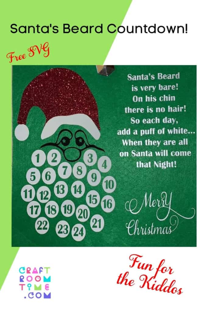 What little child doesn't want to know when Santa is coming? As a child, I used to get the Chocolate Countdown Calendars every year and I loved them! So when a fellow crafter asked for an SVG for Santa's Beard, I could not resist. So please enjoy the Santa's Beard Christmas Countdown Free SVG.