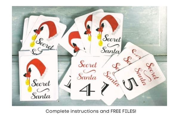Print and Cut Secret Santa Cards