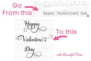 How to use Fancy fonts in Cricut Design Space