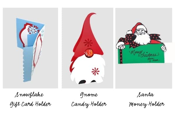 Use these free Wonderful Christmas Gift Cards and Candy Box Free SVGs.