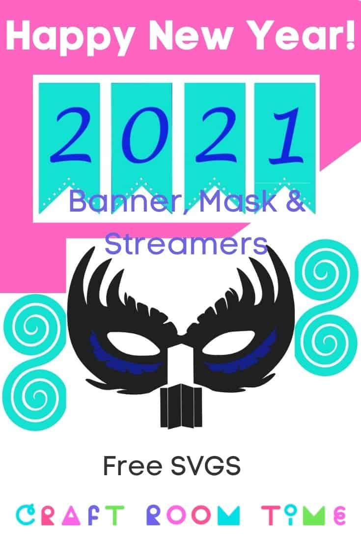New Years Banner with Streamer and Layered Mask