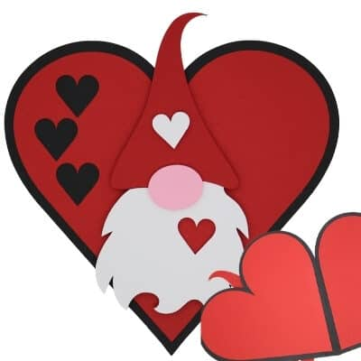 Gnome Valentine Card for Cricut with Free SVG
