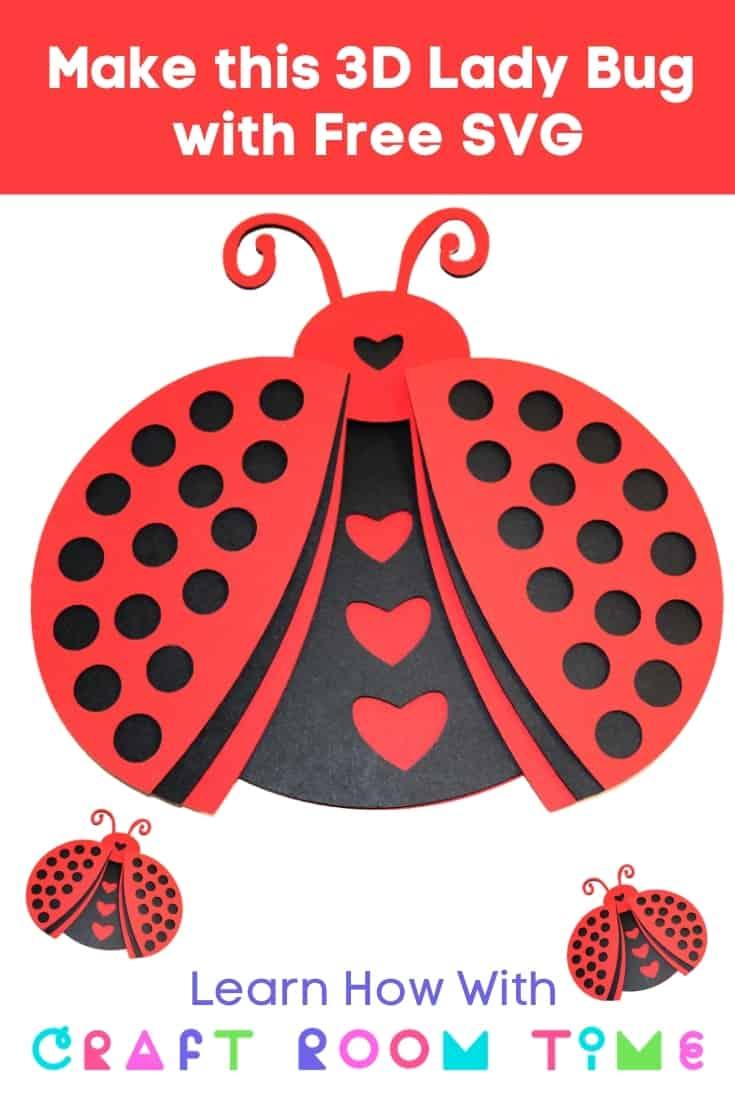 3D Ladybug with Free SVG
