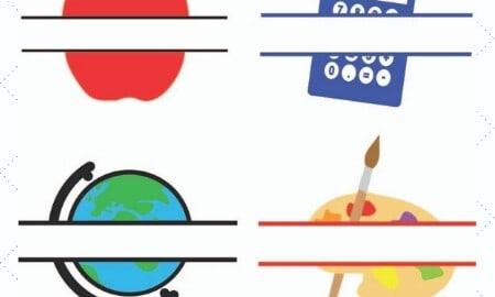 Teacher Appreciation Split Monograms Free SVGs