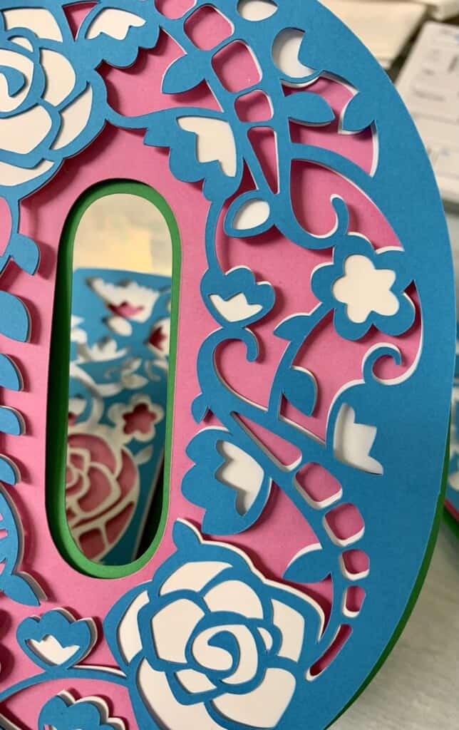 3D Mom Letters Free in Cricut Access