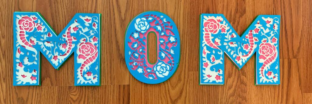 3D MOM Mandala Letters Free in Cricut Access