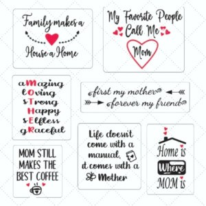 Family and Mother Sayings Free SVG