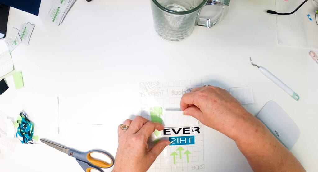 Apply Decal to Transfer Sheet
