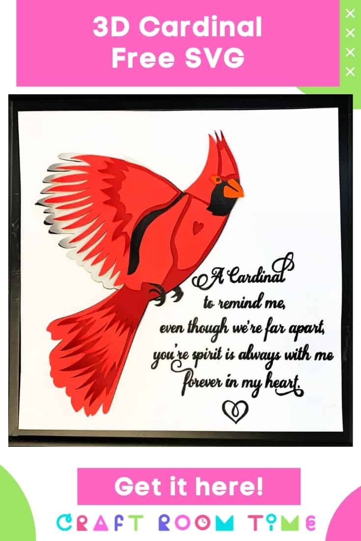 3D Layered Cardinal Free SVG