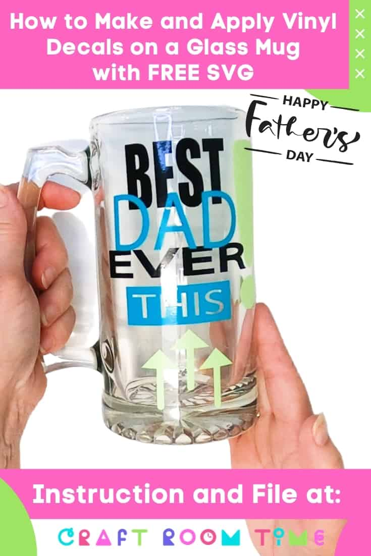 How to Make and Apply Vinyl Decals on a Glass Mug for Father's Day