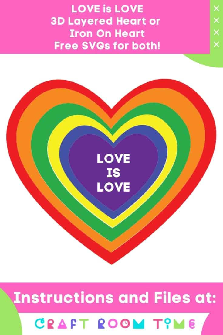Love is Love Heart Free SVG