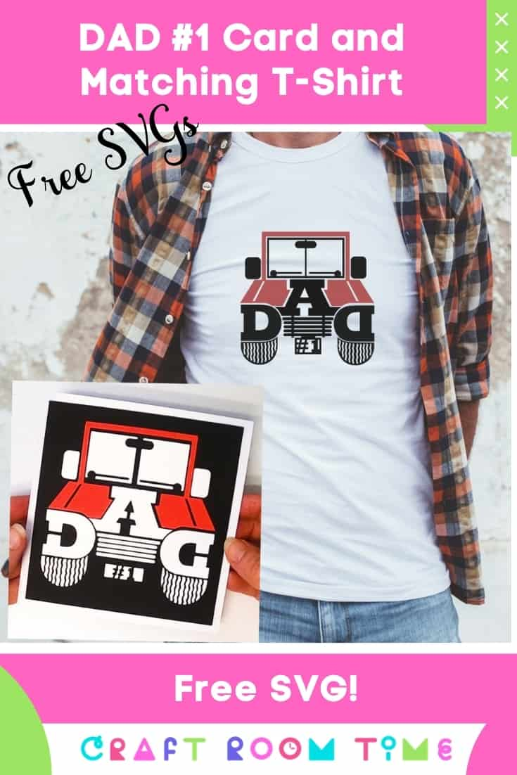 make an easy jeep dad card and matching t-shirt