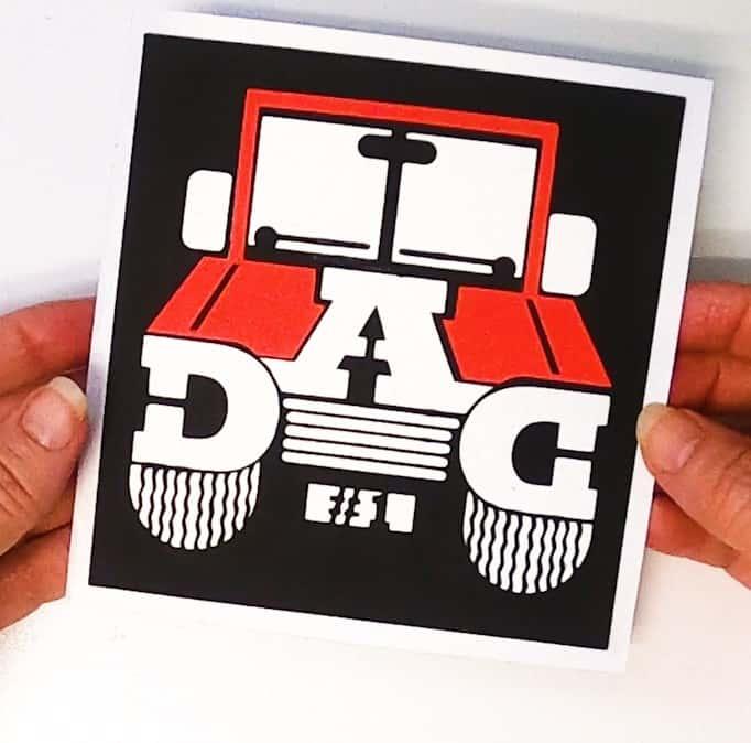 Dad Jeep Card