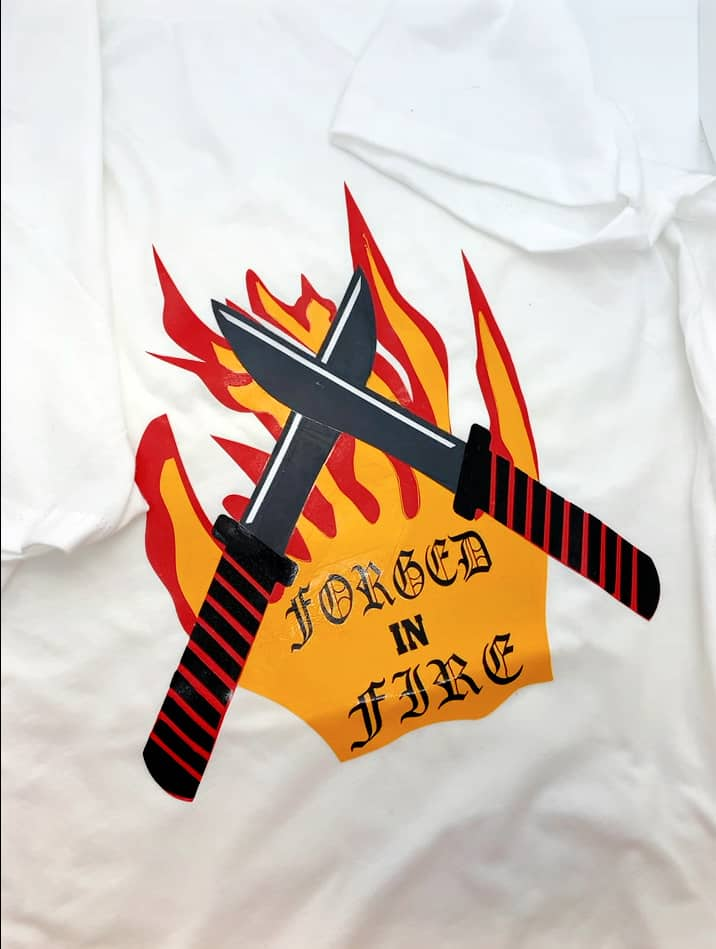 How to make a forged in fire t-shirt